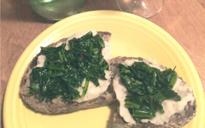 Crostini with White Beans & Bitter Greens