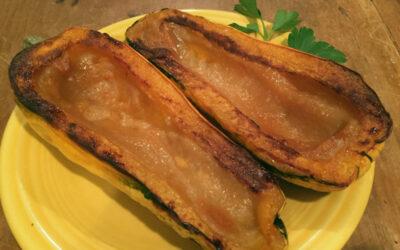 Delicata Squash with Sweet Miso Paste