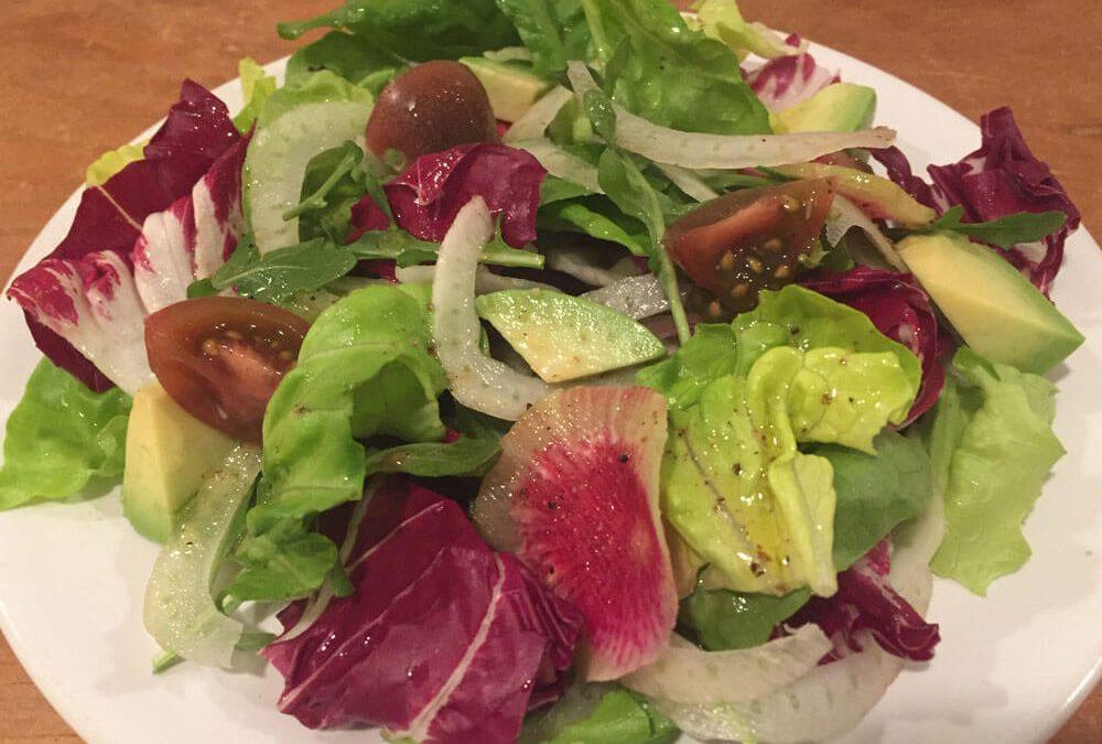 Tre Colore Salad with White Balsamic Vinaigrette